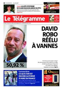 Le Télégramme Auray – 16 mars 2020