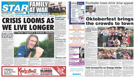 Shropshire Star Shrewsbury Edition – October 08, 2018