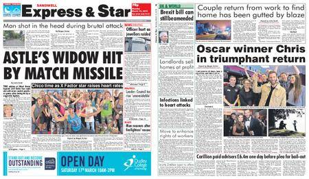 Express and Star Sandwell Edition – March 12, 2018