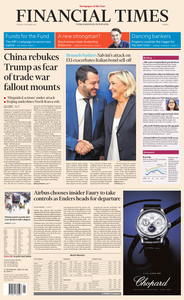 Financial Times Europe - 09 October 2018