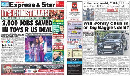 Express and Star Sandwell Edition – December 22, 2017