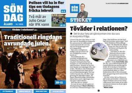 Ålandstidningen – 14 januari 2018