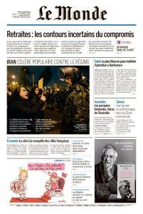 Le Monde du Mardi 14 Janvier 2020