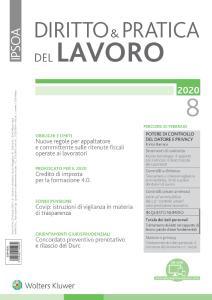 Diritto e Pratica del Lavoro N.8 - 22 Febbraio 2020