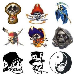 Skulls PNG Icons Pack