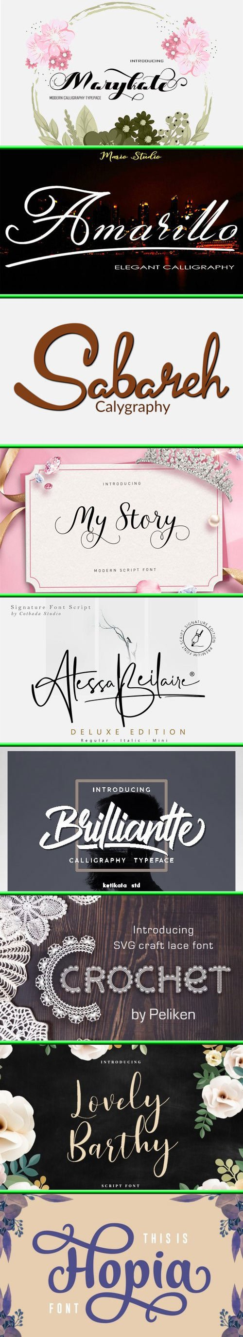 Fonts Bundle Vol.73 2019