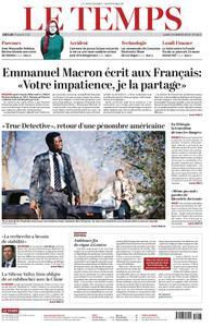 Le Temps - 14 janvier 2019