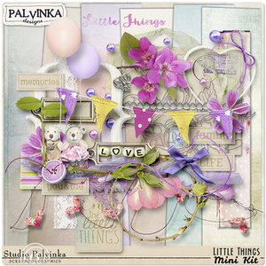 2 Vintage Flowers Mini Scrap Kits