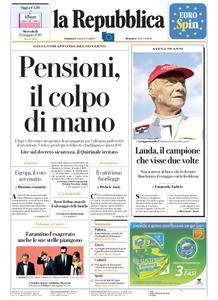 la Repubblica – 22 maggio 2019