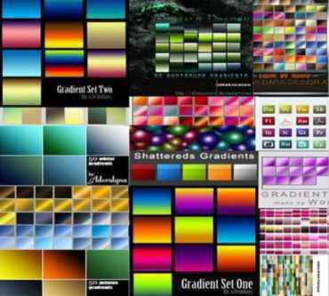 Mega Pack newest gradients for Photoshop