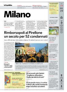 la Repubblica Milano - 19 Gennaio 2019