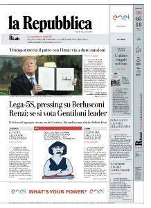 la Repubblica - 9 Maggio 2018