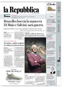 la Repubblica - 23 Ottobre 2018