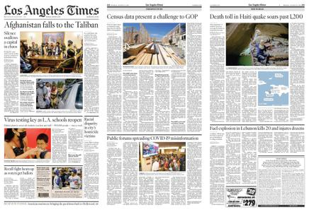 Los Angeles Times – August 16, 2021