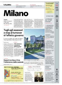 la Repubblica Milano - 3 Gennaio 2019