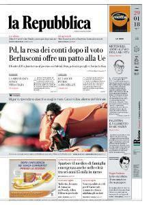 la Repubblica - 29 Gennaio 2018