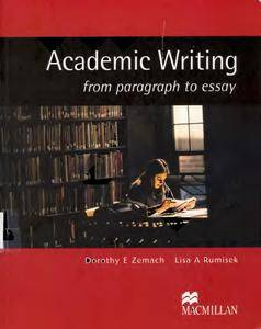Academic Writing: From Paragraph to Essay (Repost)