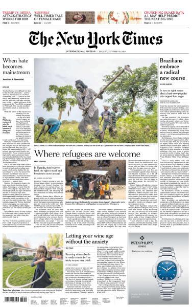 International New York Times - 30 October 2018