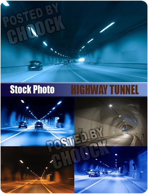 Stock Photo: Highway tunnel