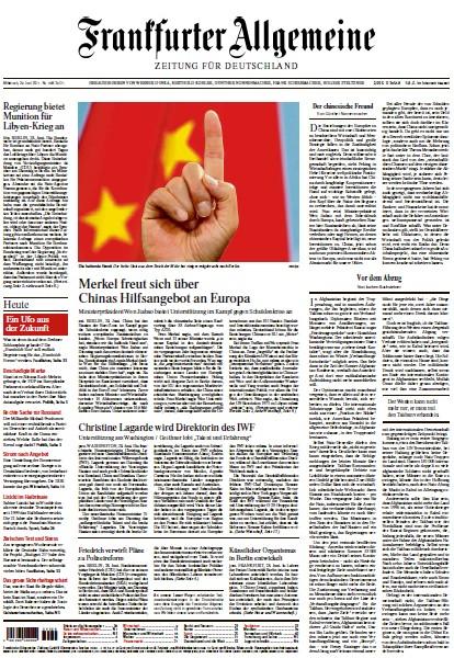 Frankfurter Allgemeine Zeitung vom 29 Juni 2011