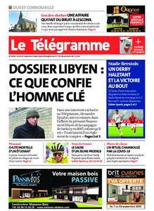 Le Télégramme Ouest Cornouaille – 21 septembre 2020