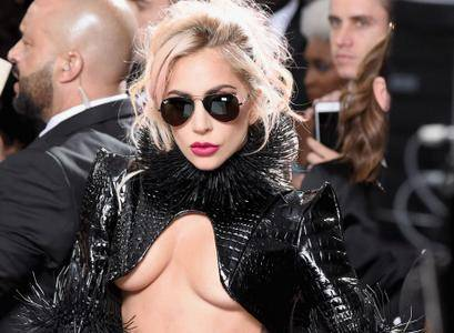 Lady Gaga at the 59th Annual Grammy Awards in Los Angeles on February 12, 2017
