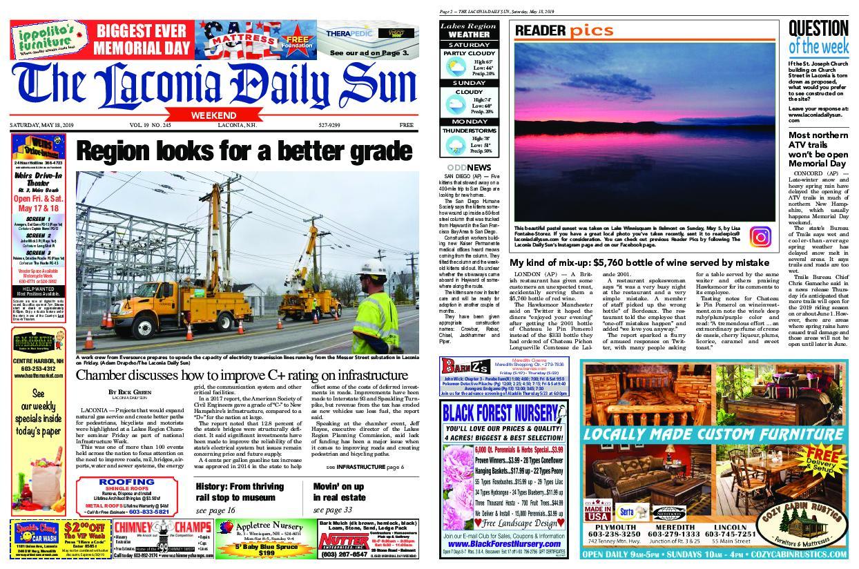 The Laconia Daily Sun – May 18, 2019