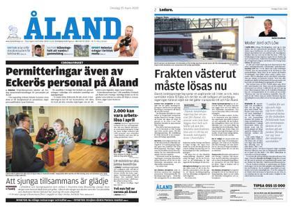 Ålandstidningen – 25 mars 2020