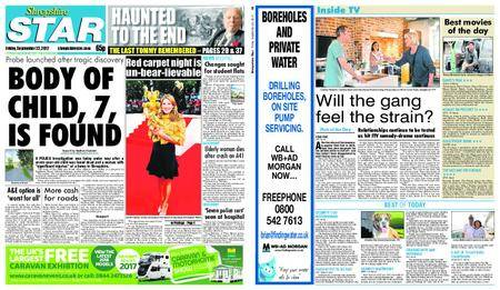 Shropshire Star Shrewsbury Edition – September 22, 2017