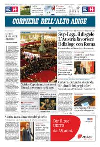 Corriere dell'Alto Adige – 23 dicembre 2018