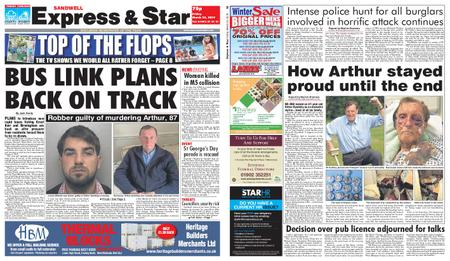Express and Star Sandwell Edition – March 22, 2019