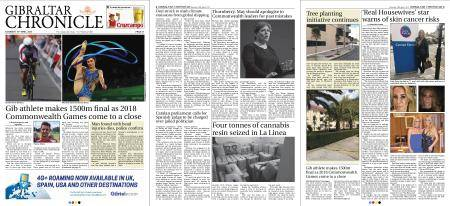 Gibraltar Chronicle – 14 April 2018