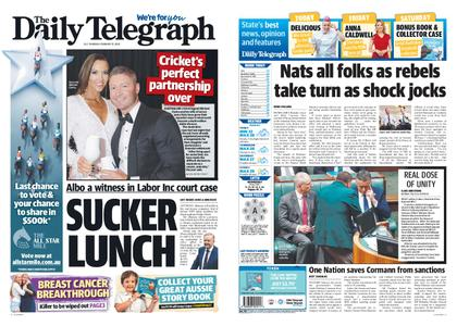 The Daily Telegraph (Sydney) – February 13, 2020