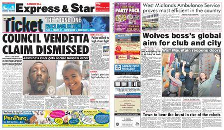 Express and Star Sandwell Edition – September 28, 2018