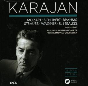 Herbert von Karajan - Karajan conducts Mozart, Schubert, Brahms, Strauss, Wagner 1951-1960 (2014)