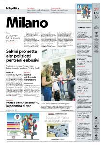 la Repubblica Milano - 29 Settembre 2018