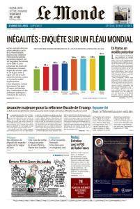 Le Monde du Vendredi 15 Décembre 2017