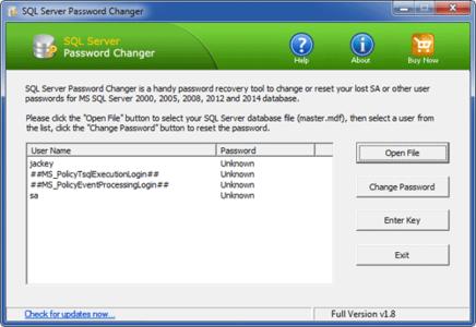 SQL Server Password Changer 1.9