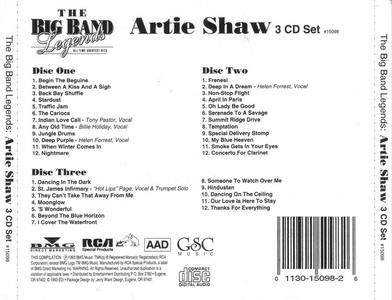 Artie Shaw - The Big Band Legends (3CD) (1993)