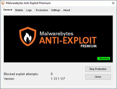 Malwarebytes Anti-Exploit Premium 1.13.1.117