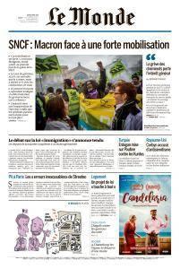 Le Monde du Jeudi 5 Avril 2018