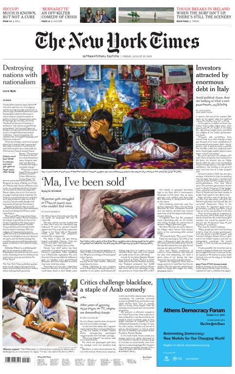 International New York Times - 23 August 2019