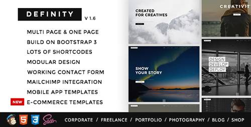 ThemeForest - Definity v1.6 - Multipurpose One/Multi Page Template - 12379946