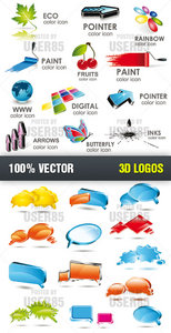Stock Vector - 3D Logos