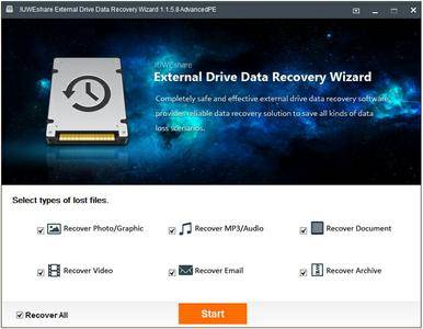 IUWEshare External Drive Data Recovery Wizard 1.8.8.8 Unlimited / AdvancedPE