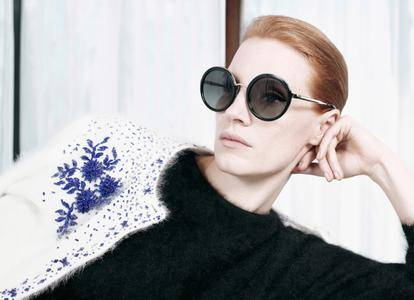 Jessica Chastain by Willy Vanderperre for Prada Pre-Fall 2017