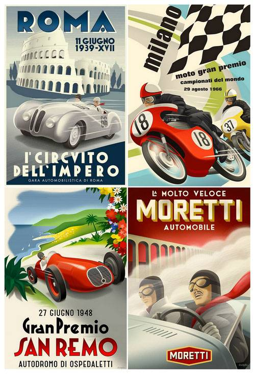 Vintage Car Posters and Racing Posters 3