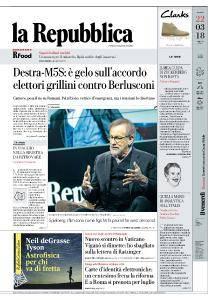 la Repubblica - 22 Marzo 2018