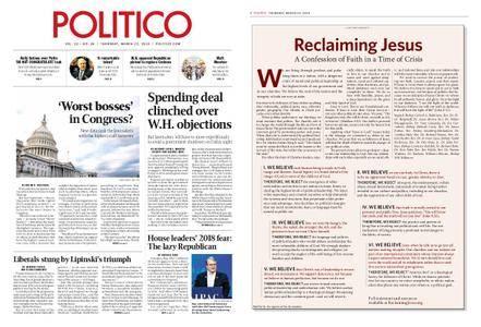 Politico – March 22, 2018