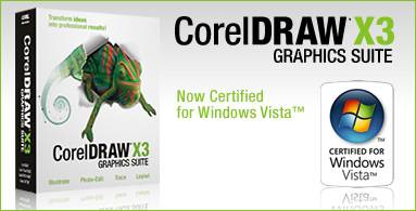 CorelDraw Graphics Suite X3 Vista Ready